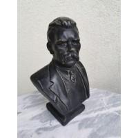 Biustas rašytojo Maksimo Gorkio. Leningrado skulptūrų fabrikas. Kaina 58