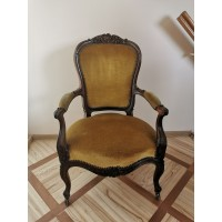 Fotelis, krėslas antikvarinis su ratukais. Kaina 92