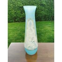 Vaza stiklinė, antikvarinė, tarpukario, 1920-30 m. Kaina 48