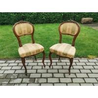Kėdės antikvarinės, prancūziškos, nedidelės. 2 vnt. Tvirtos. Kaina po 52