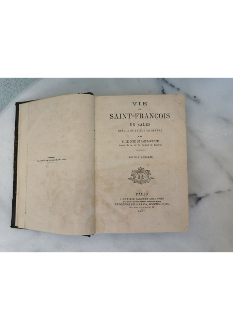Knyga antikvarinė, prancūzų kalba. 1870 m. Kaina 16