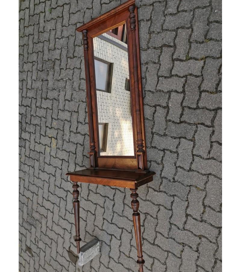Konsolė su veidrodžiu antikvarinė. Kaina po 58