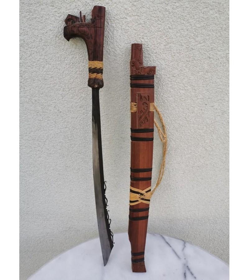 Durklas afrikietiškas su makštimi. Rankų darbas. Kaina 28