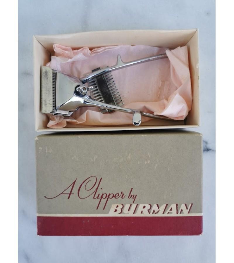 Kirpimo mašinėlė plaukams  BURMAN mechaninė, antikvarinė. Kaina 13