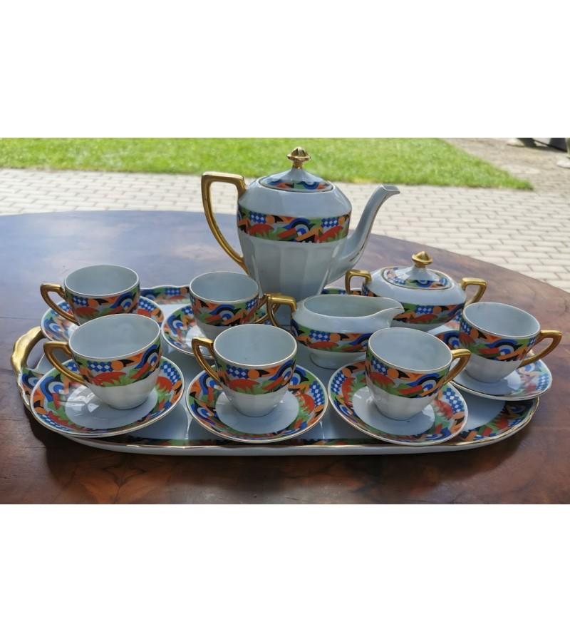 Servizas porcelianinis antikvarinis, tarpukario VICTORIA, CHINA, CZECHOSLOVAKIA. Kaina 78 už viską.