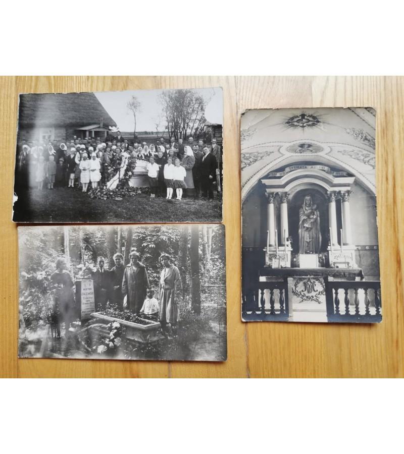 Nuotraukos tarpukario Lietuvos laidotuvių. Kaina po 3