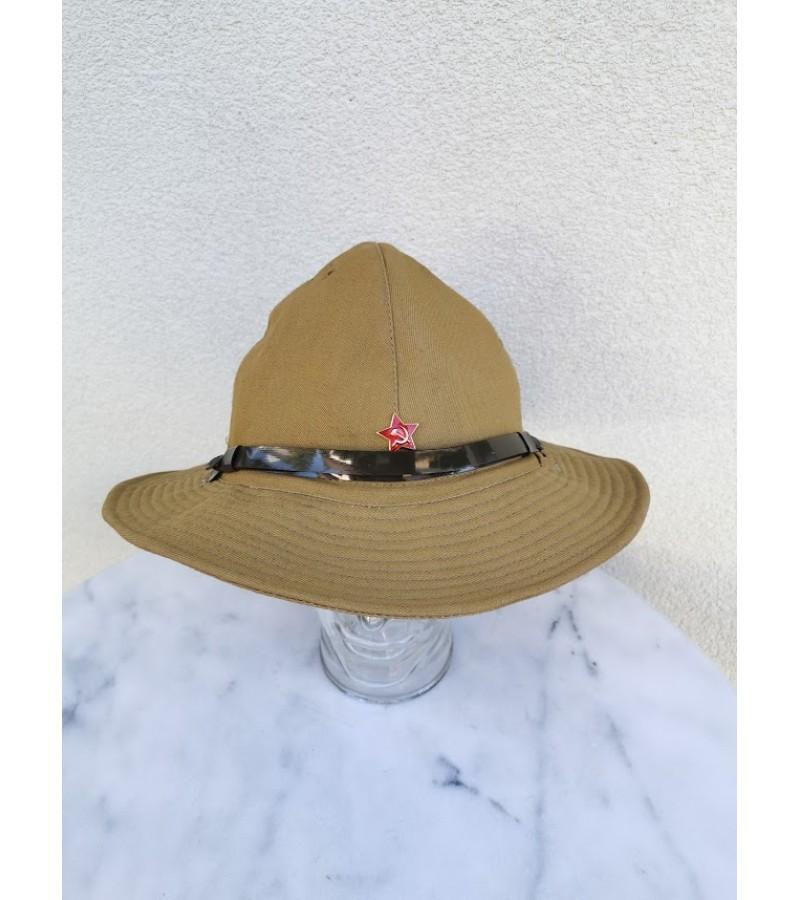 Kareiviška kepurė, panama - afganka. Russian Boonie Hat Soviet Red Army SOLDIER Uniform Afganka cap Panama size 60. Kaina 62