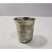 Taurelė, stikliukas sidabrinis, antikvarinis, Carinės Rusijos Imperijos laikų, 84 praba. Kaina 52