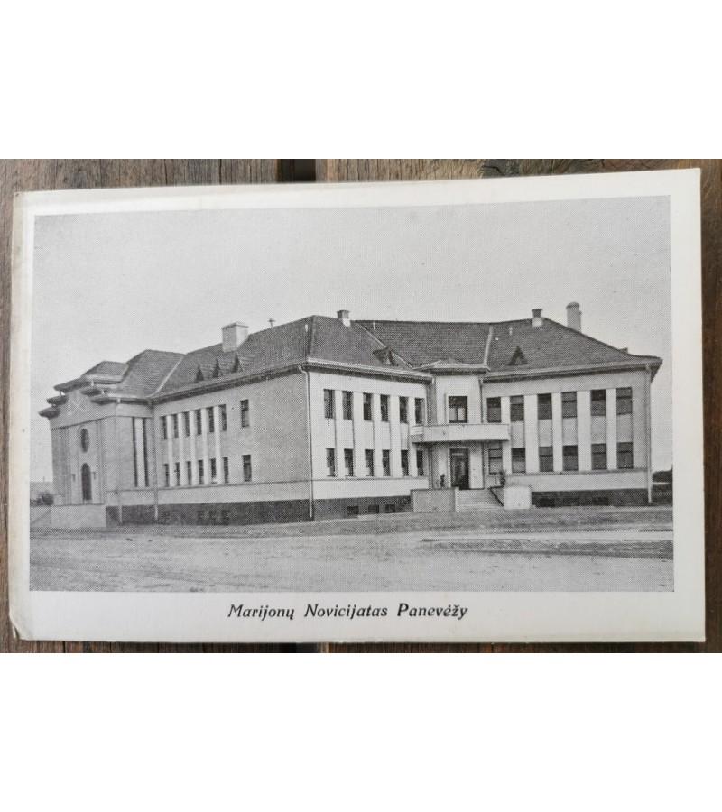 Atvirukas Marijonų Novicijatas Panevėžy. Tarpukaris. Kaina 12