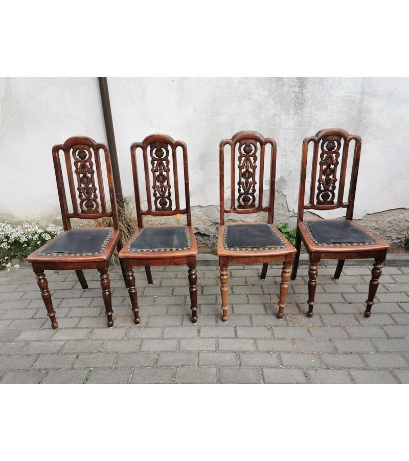 Kėdės antikvarinės, drožinėtos. 4 vnt. Kaina po 26