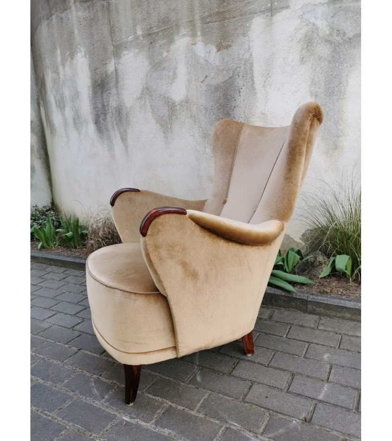 Fotelis Art Deco stiliaus, labai geros būklės. Kaina 157