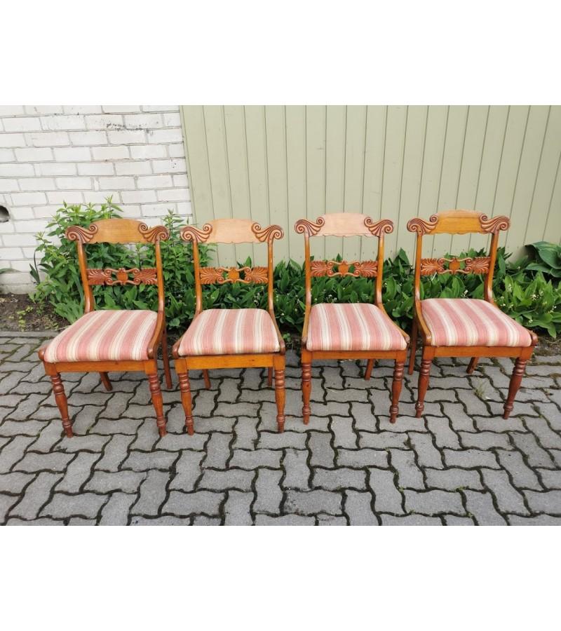 Kėdės antikvarinės, Biedermeier stiliaus. 4 vnt. Kaina 52 už visas
