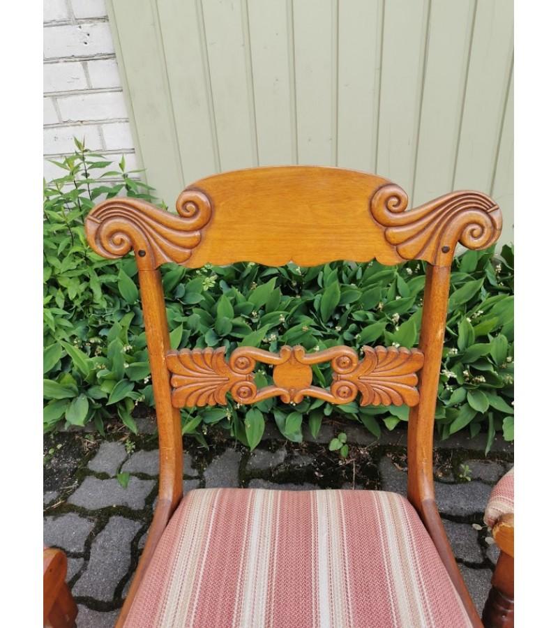 Kėdės antikvarinės, Biedermeier stiliaus. 4 vnt. Kaina po 18