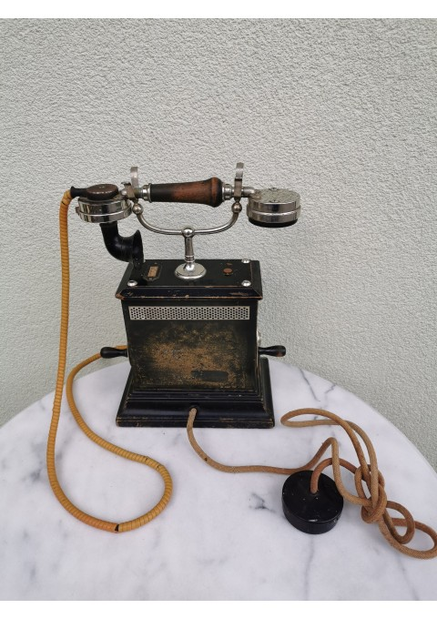 Telefonas antikvarinis dviejų rankenėlių K.TELEGRAFVERKETS VERKSTAD NYNASHAMN. Kaina 227