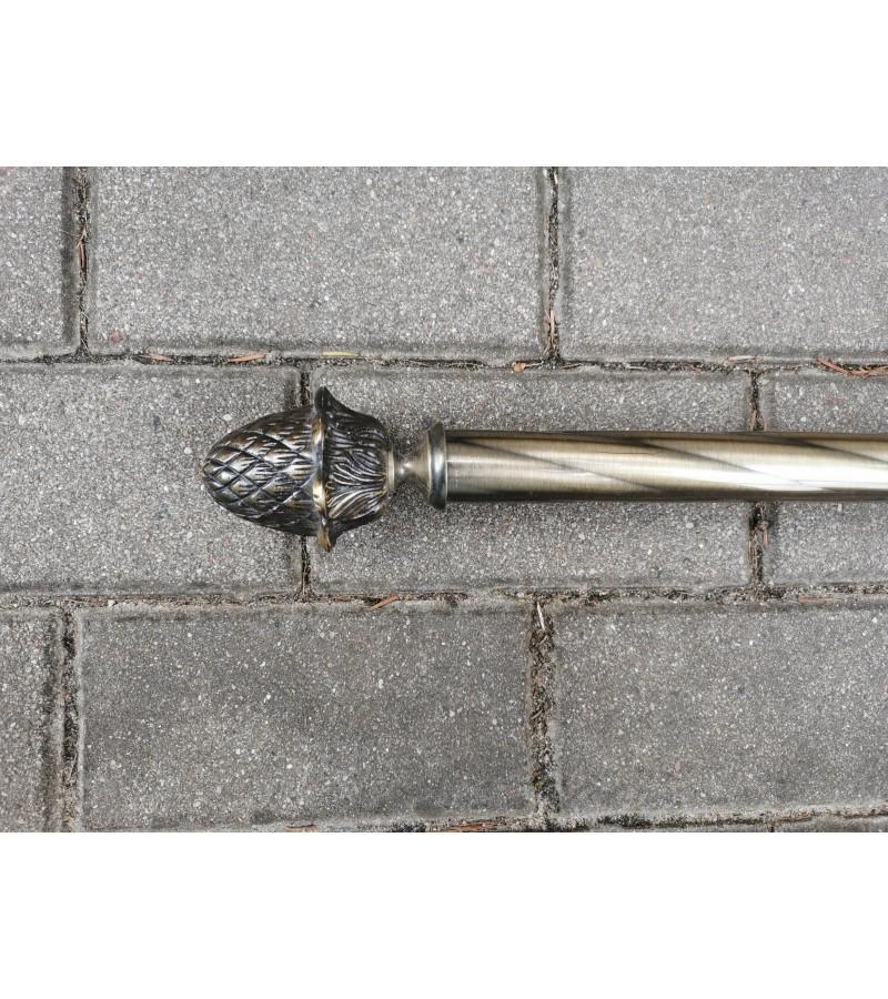 Karnizas metalinis, žalvariniais antgaliais. Kaina 23