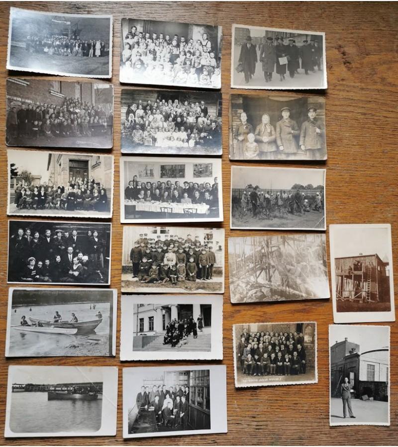 Nuotraukos antikvarinės, įvairios. 19 vnt. Kaina po 2 - 3