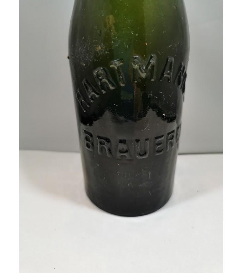 Butelis antikvarinis HARTMANNS BRAUEREI. Kaina 12