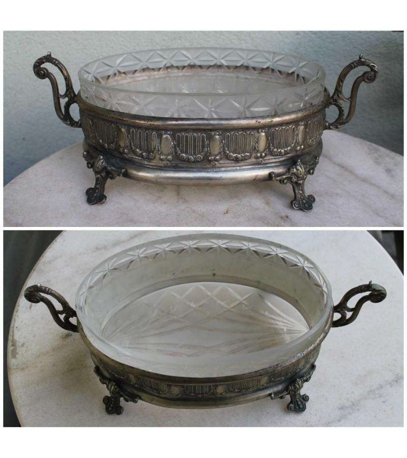 Antique Art-Nouveau Centerpiece vaza. Saldaininė, sausaininė. Kaina 187