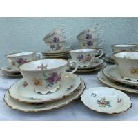 Puodeliai arbatai su lėkštutėmis , talpa 300 ml, arbatinis, serviravimo indai